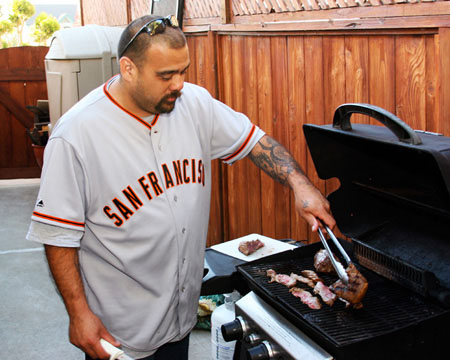 Jay at the grill!