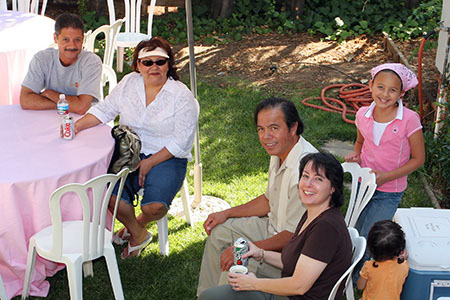 Dave, Frankie, Uncle Frank, Auntie Debbie, Asheley and Tehani