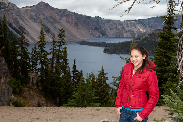 Ash at Crater Lake