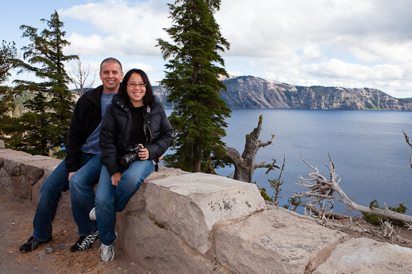 D and I at Crater Lake